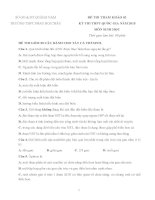 ĐÊ THI THỬ ĐH MÔN SINH - PHAN BỘI CHÂU LẦN 2