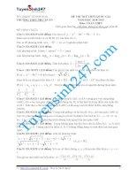 đề thi thử thpt quốc gia môn toán trường trường THPT như xuân   thanh hóa