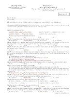 Đề khảo sát lớp 10 môn Hóa học năm 2015 trường THPT Chuyên Hùng Vương
