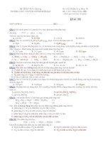 Đề kiểm tra 1 tiết hoá 10 căn bản   THPT chuyên huỳnh mẫn đạt (kèm đáp án)
