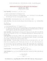Đề thi thử đại học môn Toán 2015 số 1 (Thầy Phạm Kim Chung )