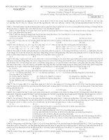 ĐỀ THI CHỌN học SINH GIỎI hóa lớp 12 tỉnh thái bình năm học 2013 2014