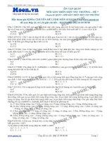Đề 7 Quy luật di truyền (Mỗi gen trên 1 NST thường)