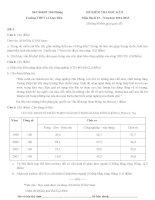 Đề kiểm tra học kì 2 môn Địa lý lớp 12 năm 2014 - 2015 trường THPT Lê Quý Đôn, Hải Phòng (Đề số 3)