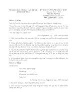 Đề thi - đáp án tuyển sinh vào lớp 10 môn Văn TP Hà Nội năm 2014