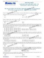 Câu hỏi trắc nghiệm Phương pháp giải bài tập liên kết gen P1
