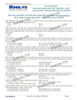 Đề 9 Quy luật di truyền (Mỗi gen trên 1 NST thường)