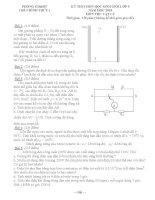 Đề thi học sinh giỏi môn Vật lý lớp 9 năm 2015