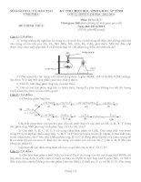 Đề thi học sinh giỏi môn Hóa lớp 12 năm học 2012 - 2013 tỉnh vĩnh phúc(có đáp án)