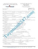 đề thi thử thpt quốc gia môn hóa trường THPT chuyên thăng long