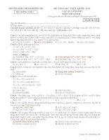 thpt quảng trị đề thi thử môn hóa lần 2 mã đề 358