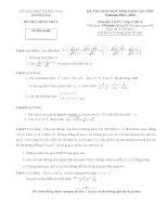 Đề thi học sinh giỏi lớp 9 THCS tỉnh Thanh Hóa năm 2014 môn toán