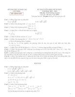 Đề tuyển sinh vào 10 môn toán năm 2012_TÂY NINH