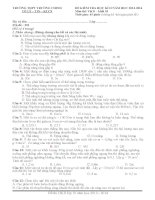 Đề thi học kì 2 môn Vật lý 10 (Cơ bản và nâng cao) năm 2013-2014 trường THPT Trường Chinh, Hồ Chí Minh