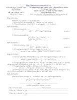 đề thi HSG toán 10 năm 2012-2013 Bắc Giang