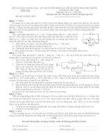 Đề thi tuyển sinh lớp 10 môn Vật lý chuyên Đắc Lăk năm học 2012 - 2013(có đáp án)