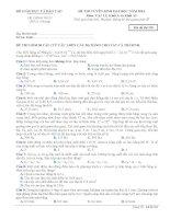 Đề thi - Đáp án thi Đại học môn Vật lý năm 2014 - Khối A