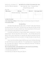 Đề kiểm tra cuối học kì 2 môn Tiếng Việt lớp 3 năm học 2014-2015 trường Tiểu học Kim Bài, Hà Nội
