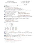 Đề kiểm tra 1 tiết hoá 10 nâng cao   THPT chuyên huỳnh mẫn đạt (kèm đáp án)