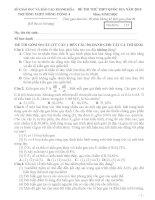 đề, đáp án thi thử THPT QG môn sinh THPT Nông Cống 4