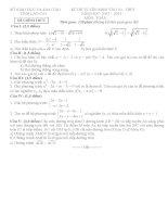 Đề thi chính thức kỳ thi tuyển sinh vào lớp 10 THPT môn toán tỉnh Lào Cai năm học 2012,2013