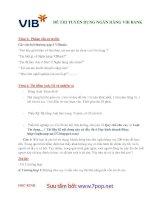 Đề thi tuyển dụng vào ngân hàng VIBank