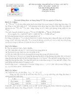 Đề thi Olympic trại hè Hùng Vương lần X năm 2014 - Khối 10 môn hóa