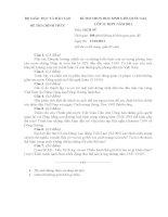 Đề thi học sinh giỏi Quốc gia môn Lịch sử lớp 12 năm 2011 - Có đáp án