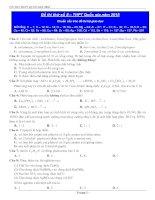 Đề thi thử số 5 THPT Quốc gia môn Hóa  năm 2015