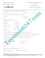 đề thi thử thpt quốc gia môn hóa trường THPT chuyên KHTN lần 3