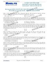Câu hỏi trắc nghiệm Luyện tập tổng hợp các quy luật di truyền P1