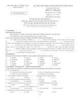 Đề thi học sinh giỏi lớp 9 THCS tỉnh Hải Dương năm 2012-2013 môn anh