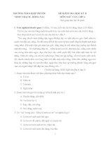 Bộ đề luyện thi học kì 1, 2 môn ngữ văn lớp 6 (mới nhất) phần 8