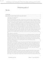 Tiểu luận marketing phân tích ảnh hưởng của dân số trung quốc đến chiến lược marketing của bitis