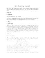 Bài viết số 6 Ngữ văn lớp 9 Truyện ngắn Làng cho thấy những chuyễn biển trong tình cảm của người nông dân Việt Nam thời chống Pháp