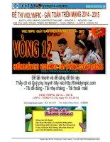 ĐỀ THI VIOLYMPIC môn toán  LỚP 5  Vòng 12  2014 - 2015