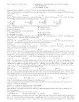 Đề thi minh họa và đáp án kỳ thi THPT Quốc gia môn Vật Lý