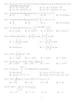 bài tập trắc nghiệm giải tích 2