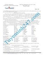 đề thi thử thpt quốc gia môn tiếng anh trường lương văn chánh phú yên năm 2015