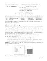 Đề thi học sinh giỏi Quốc gia môn Tin học lớp 12 năm 2011 - Có đáp án (Ngày thi thứ nhất)