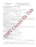 Đề thi thử môn Toán trường THPT Chuyên Hà Tĩnh lần 2 năm 2013