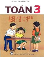 Sách giáo khoa toán lớp 3 phần 1 NXB giáo dục việt nam