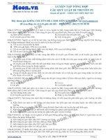 Câu hỏi trắc nghiệm Luyện tập tổng hợp các quy luật di truyền P3