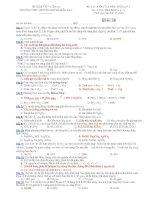 Đề kiểm tra 1 tiết hoá 10 chuyên   THPT chuyên huỳnh mẫn đạt (kèm đáp án)