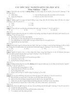 Câu hỏi trắc nghiệm kiểm tra sinh 9 học kì II(có đáp án)