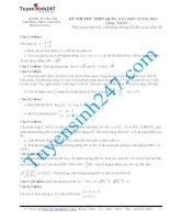 đề thi thử thpt quốc gia môn toán trường THPT chuyên thăng long   hà nội