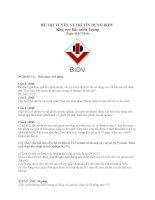 Đề thi vị trí tín dụng vào ngân hàng BIDV 3