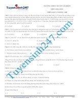 đề thi thử thpt quốc gia môn hóa trường THPT chuyên lê khiết