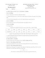 Đề thi học kì 2 môn Địa lý lớp 12 trường THPT Bắc Trà My, Quảng Nam năm học 2013 - 2014