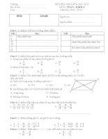 Đề kiểm tra Giữa học kì 2 môn Toán lớp 4_2